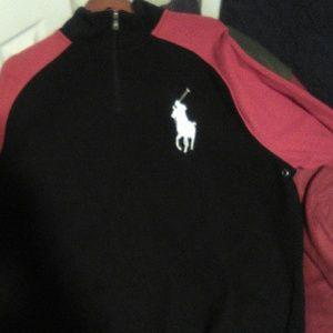 Polo Fleece Pullover Sweater